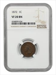 1872 Cents Indian