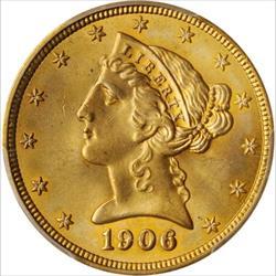 1906 $2.5 Liberty -- PCGS MS66