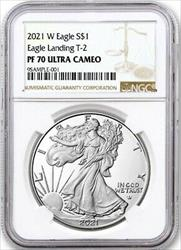2021 W American  Proof Eagle NGC T 2 Type 2  Brown Label  JL485