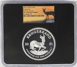 2021 South Africa Krugerrand 2 oz  NGC First Day of Issue FDOI JL472