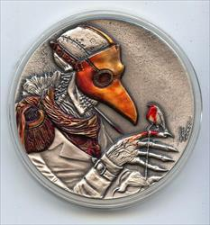 2021 The Plague Doctor 50 Grams  Antiqued $2 Niue   MB936